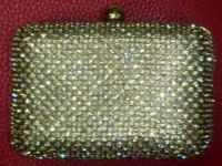 Сумочка-клатч для театрального бинокля золотая со стразами OPERA GLASSES BAG Gold Luxury CRYSTAL